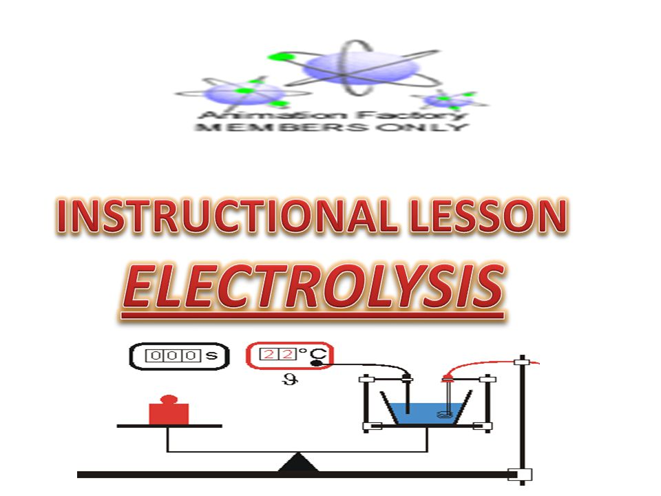 INSTRUCTIONAL LESSON ELECTROLYSIS