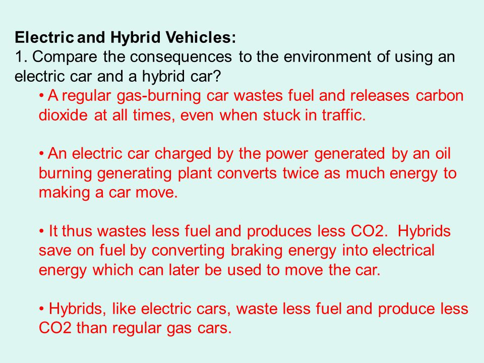Electric and Hybrid Vehicles:
