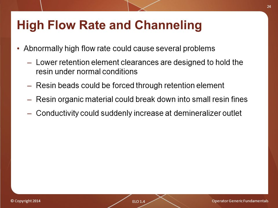 High Flow Rate and Channeling