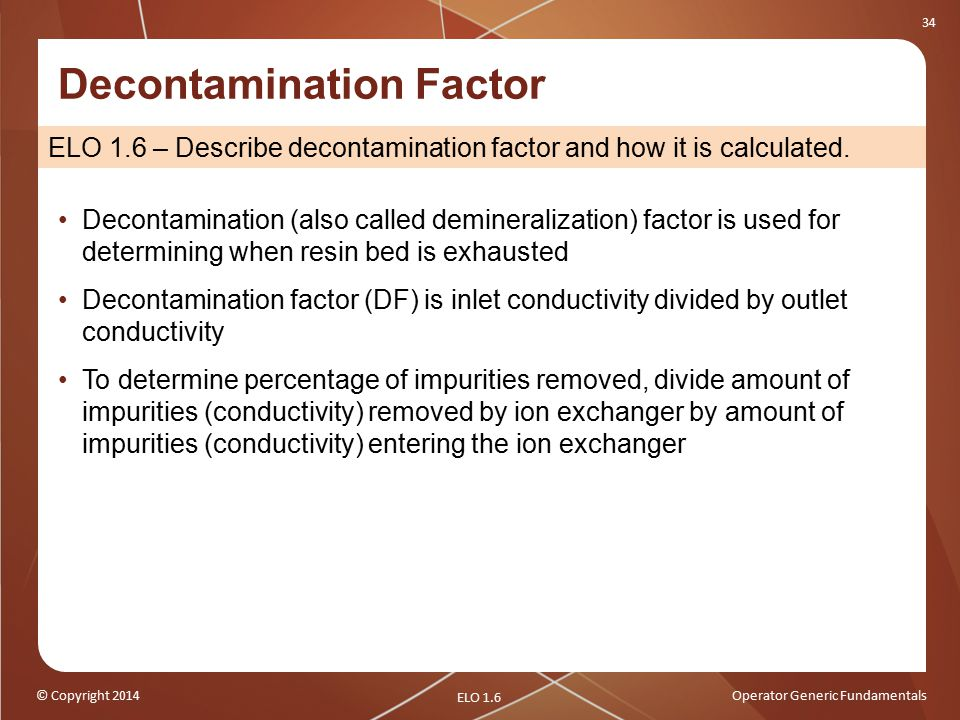 Decontamination Factor