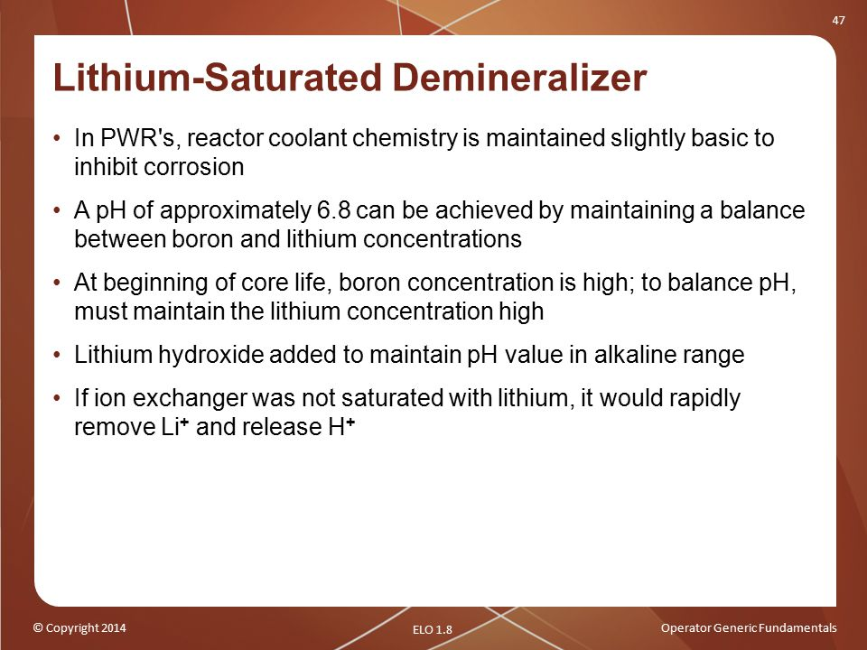 Lithium-Saturated Demineralizer
