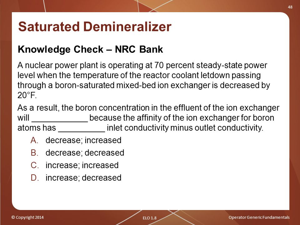 Saturated Demineralizer