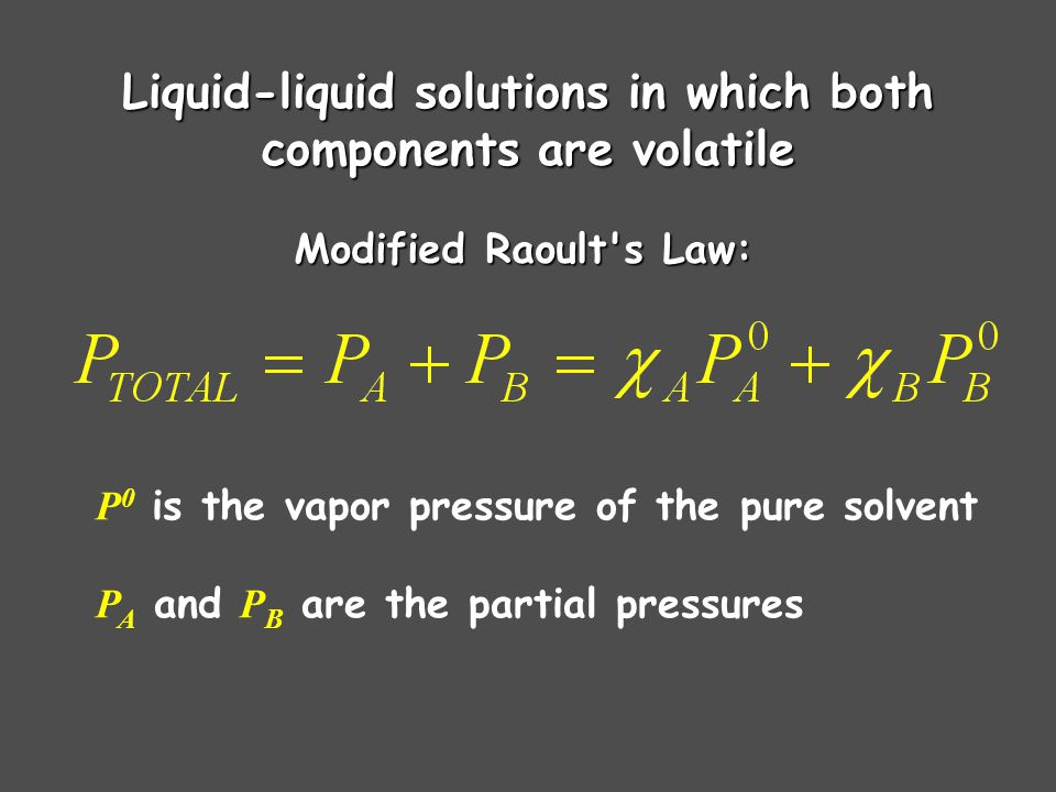 Liquid-liquid solutions in which both components are volatile