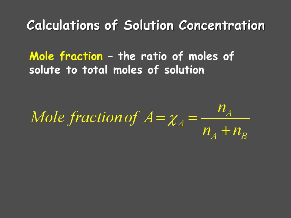 Calculations of Solution Concentration