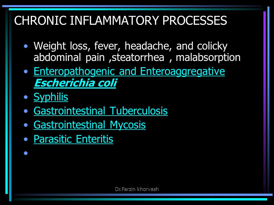 CHRONIC INFLAMMATORY PROCESSES