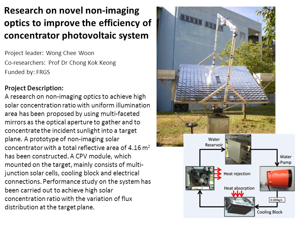 Research on novel non-imaging optics to improve the efficiency of concentrator photovoltaic system