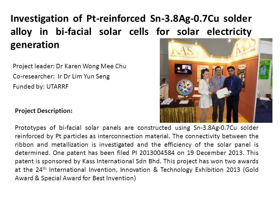 Investigation of Pt-reinforced Sn-3. 8Ag-0