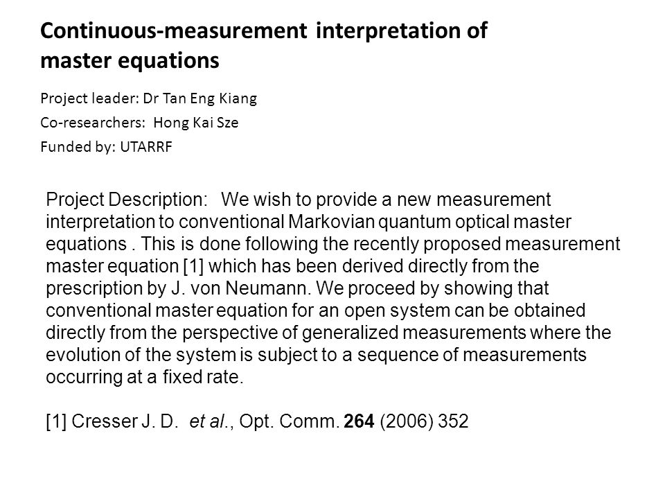 Continuous-measurement interpretation of master equations