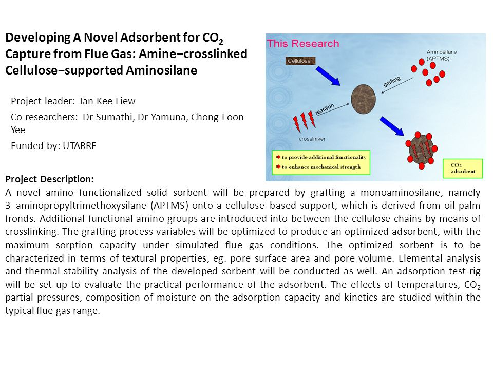 Developing A Novel Adsorbent for CO2 Capture from Flue Gas: Amine−crosslinked Cellulose−supported Aminosilane