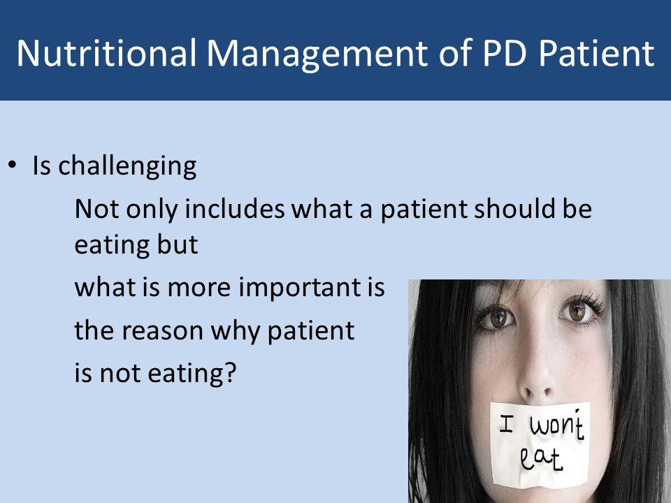Nutritional Management of PD Patient