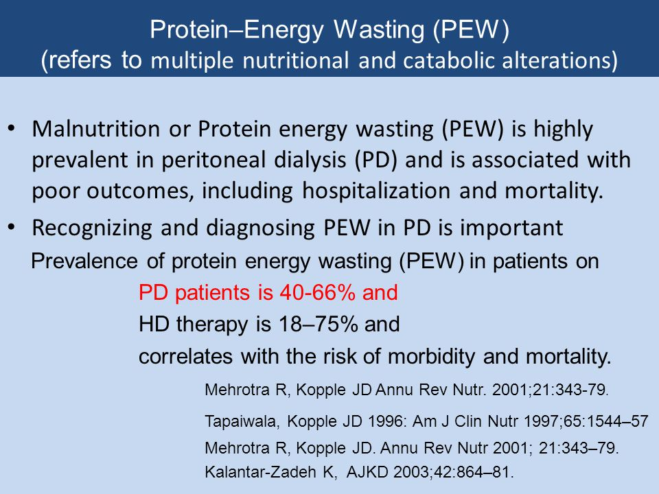 Recognizing and diagnosing PEW in PD is important