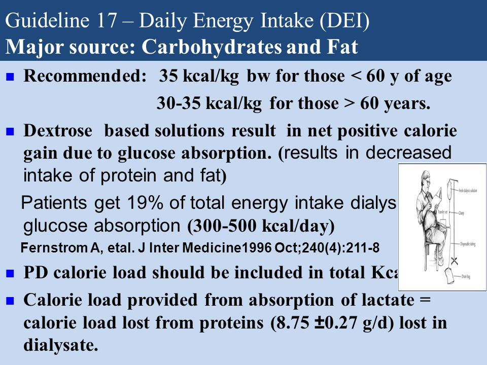 Guideline 17 – Daily Energy Intake (DEI)