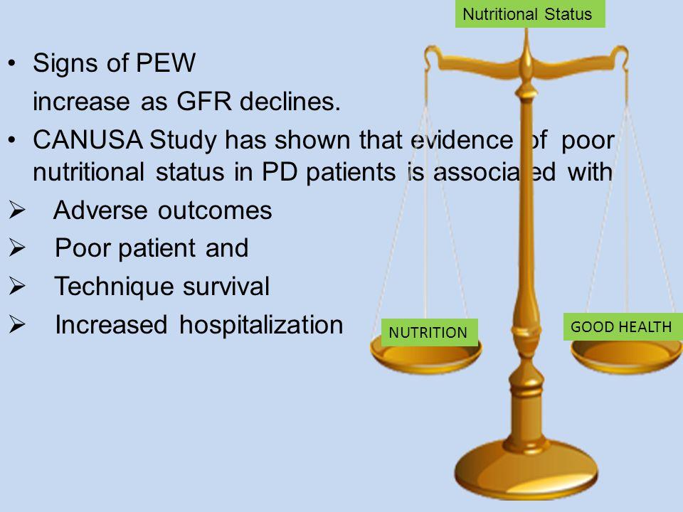 increase as GFR declines.