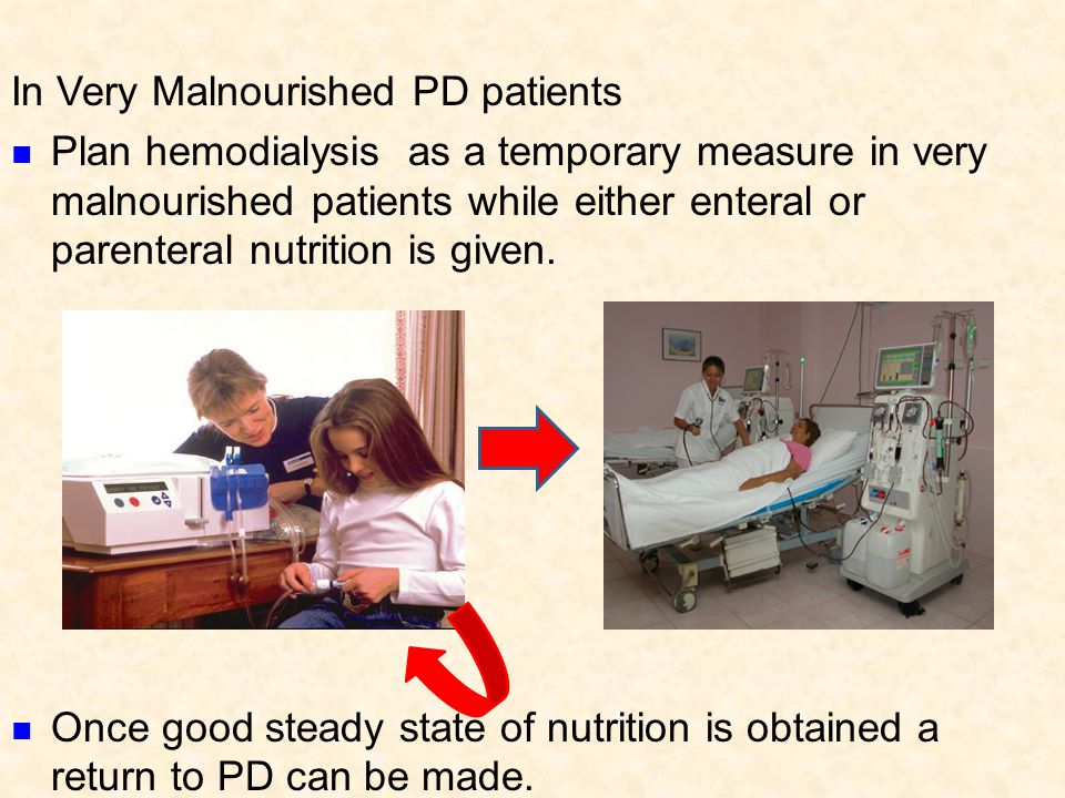 In Very Malnourished PD patients