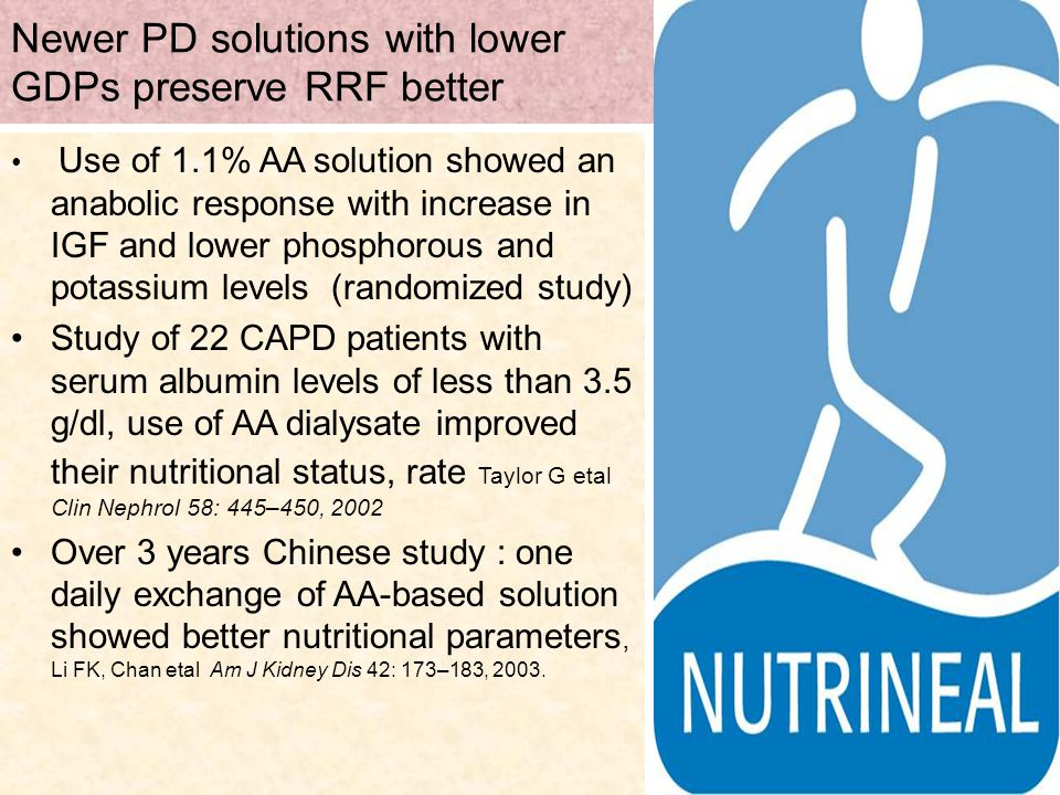 Newer PD solutions with lower GDPs preserve RRF better