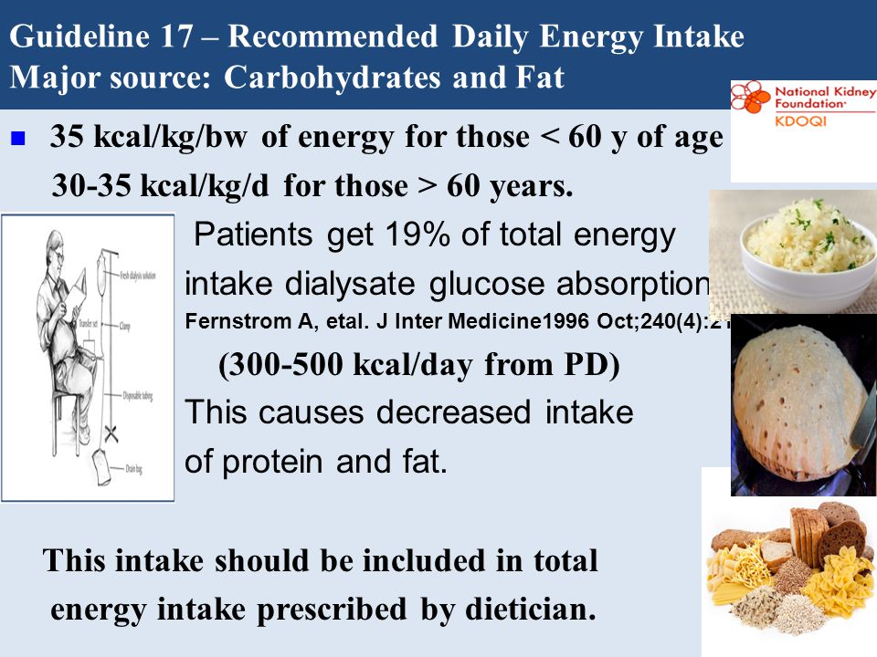 Guideline 17 – Recommended Daily Energy Intake