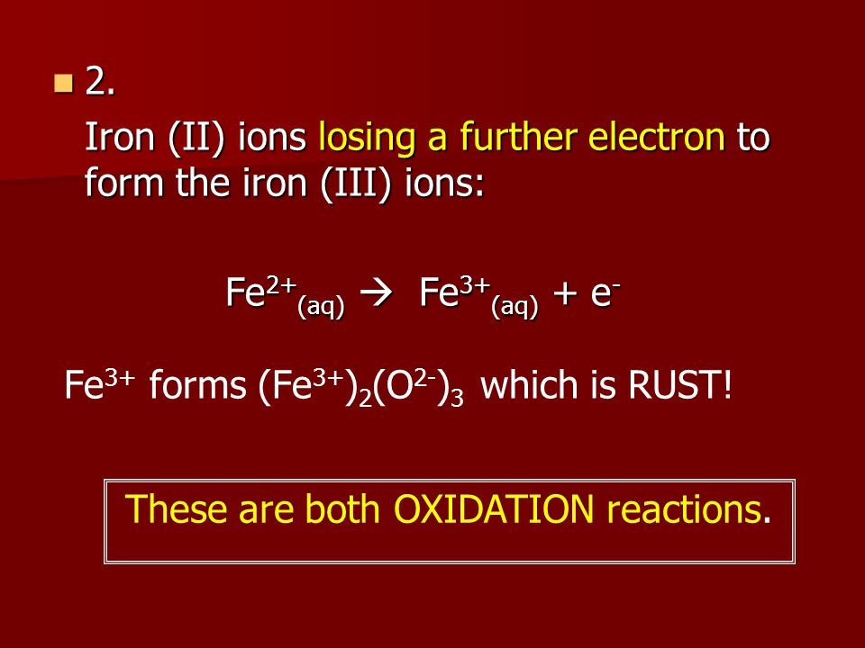 These are both OXIDATION reactions.