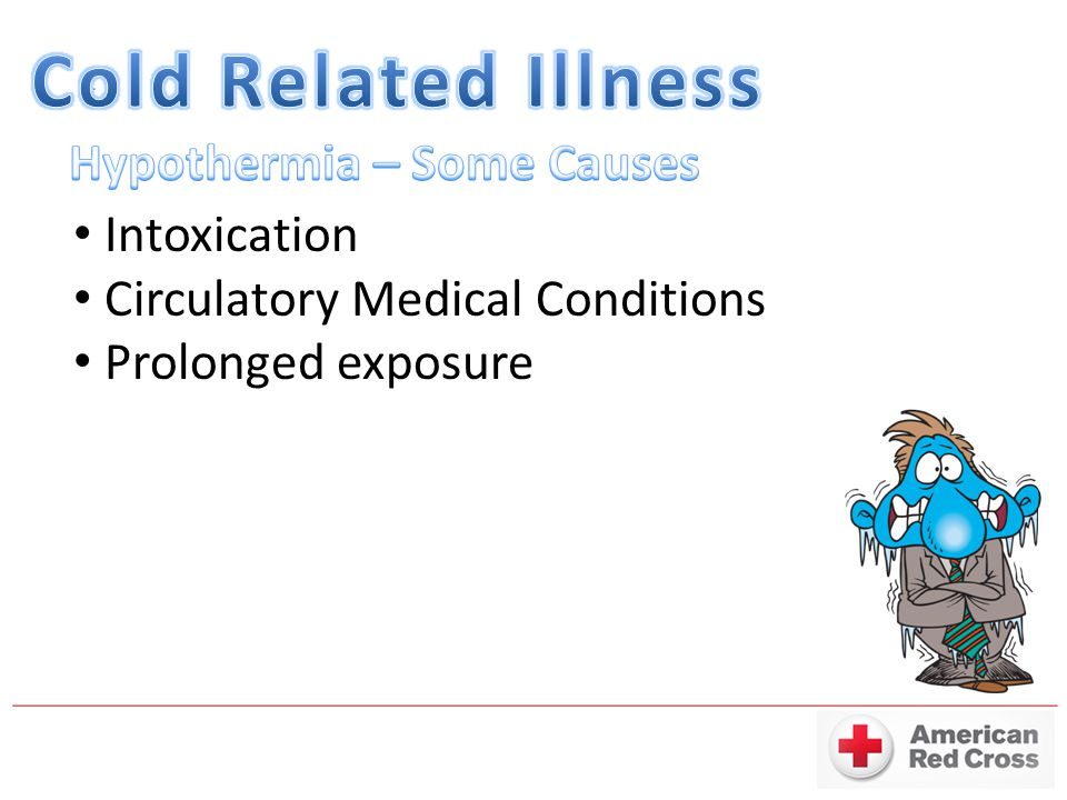 Cold Related Illness Hypothermia – Some Causes Intoxication