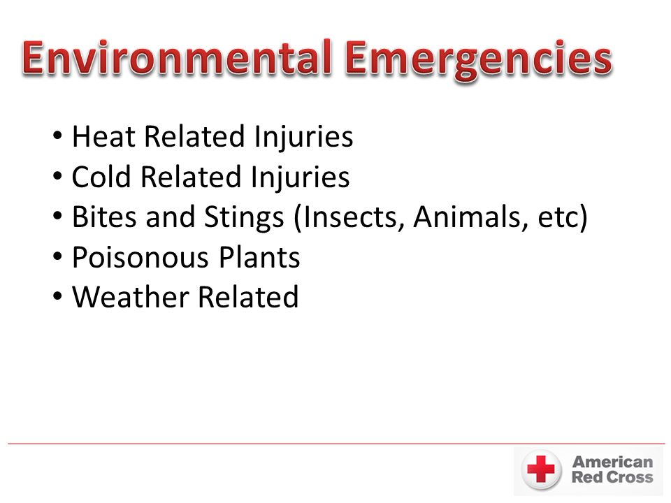 Environmental Emergencies