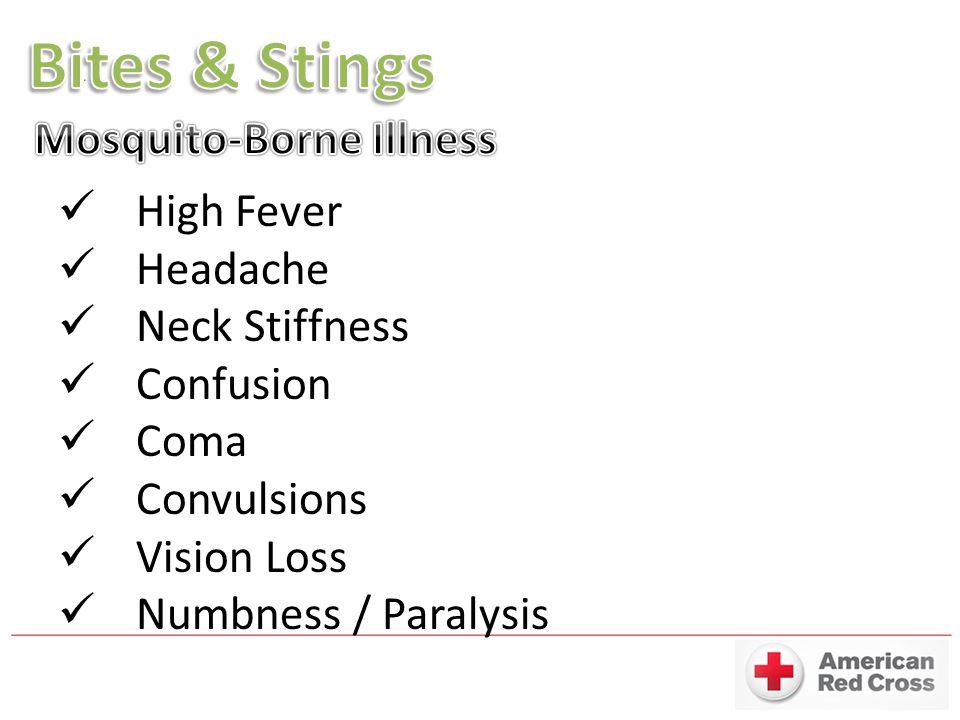 Bites & Stings Mosquito-Borne Illness High Fever Headache