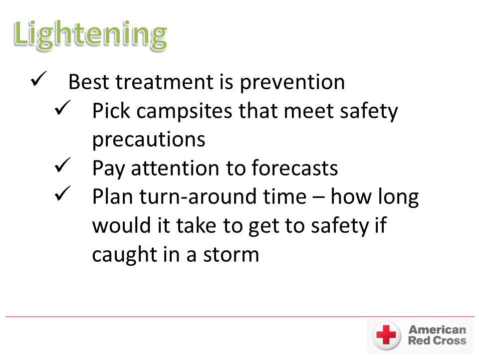 Lightening Best treatment is prevention