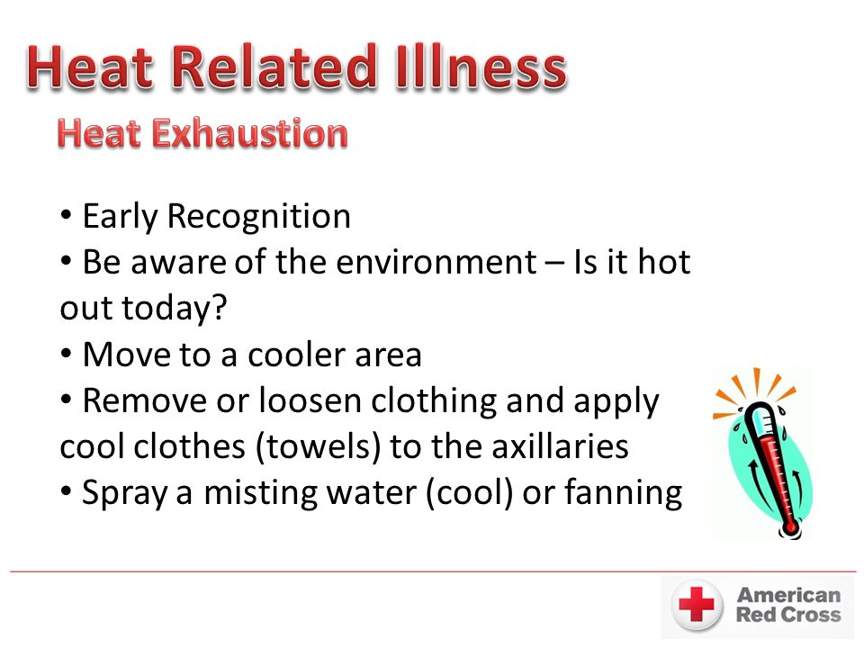 Heat Related Illness Heat Exhaustion Early Recognition