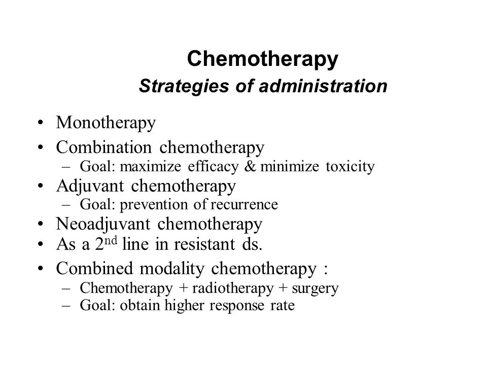 Chemotherapy Strategies of administration