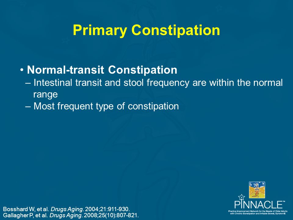 Primary Constipation Normal-transit Constipation