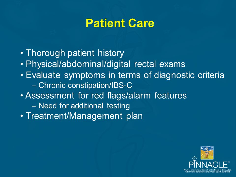 Patient Care Thorough patient history