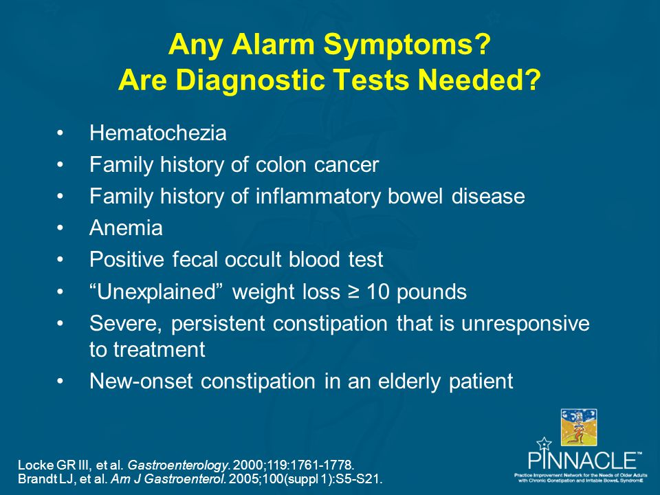 Any Alarm Symptoms Are Diagnostic Tests Needed