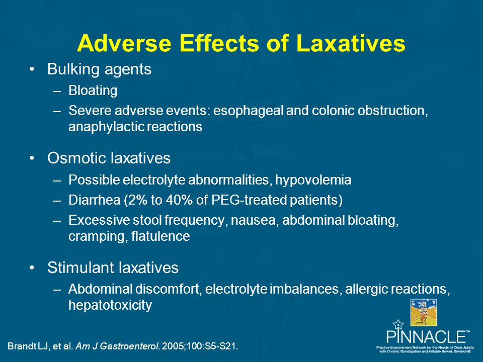 Adverse Effects of Laxatives