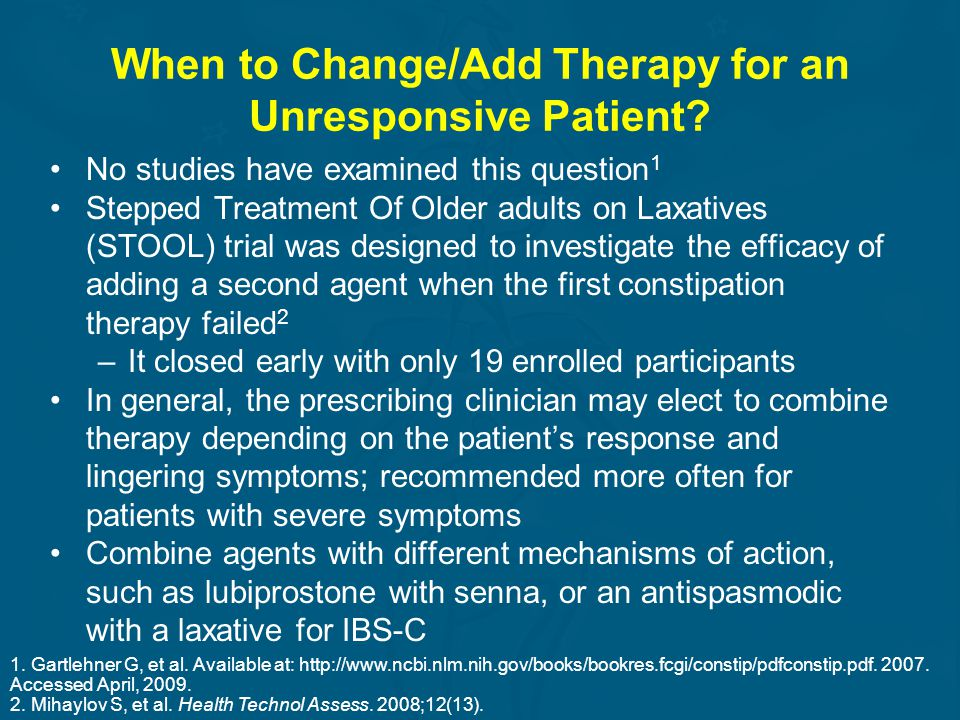 When to Change/Add Therapy for an Unresponsive Patient