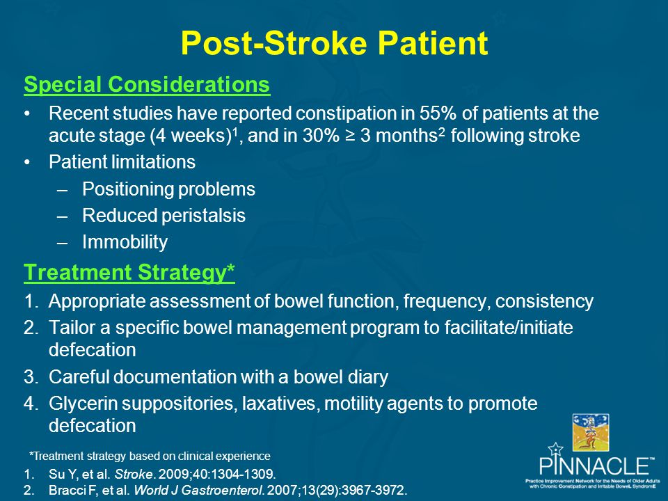 Post-Stroke Patient Special Considerations Treatment Strategy*