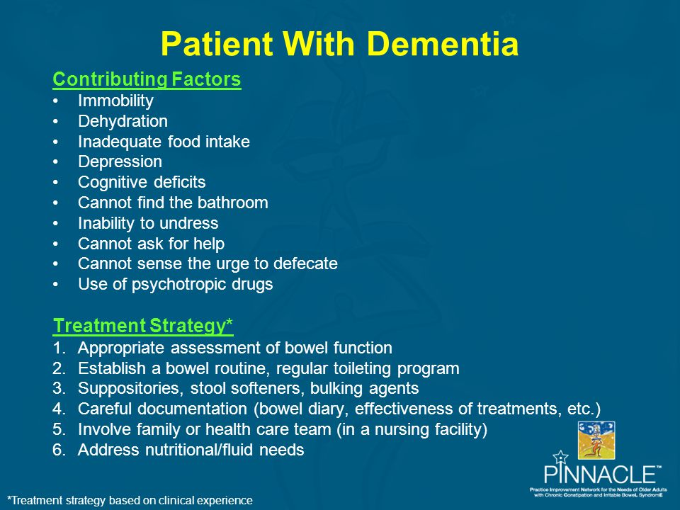 Patient With Dementia Contributing Factors Treatment Strategy*