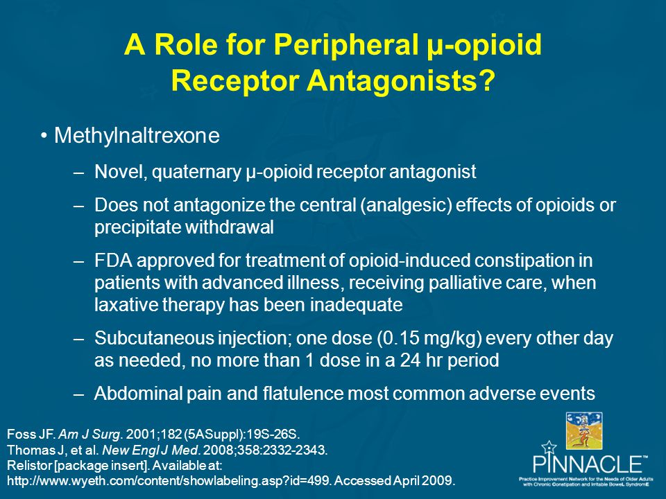 A Role for Peripheral µ-opioid Receptor Antagonists