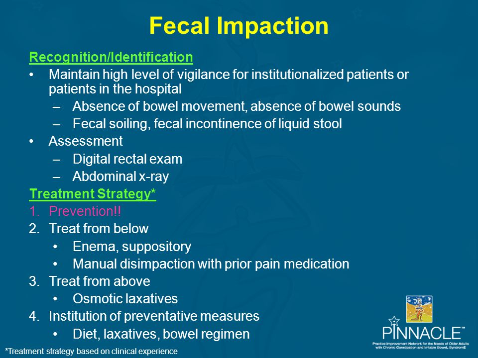 Fecal Impaction Recognition/Identification