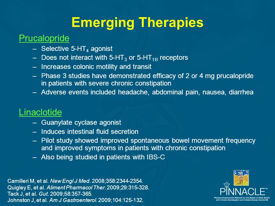 Emerging Therapies Prucalopride Linaclotide Selective 5-HT4 agonist