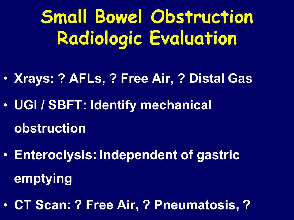 Small Bowel Obstruction Radiologic Evaluation