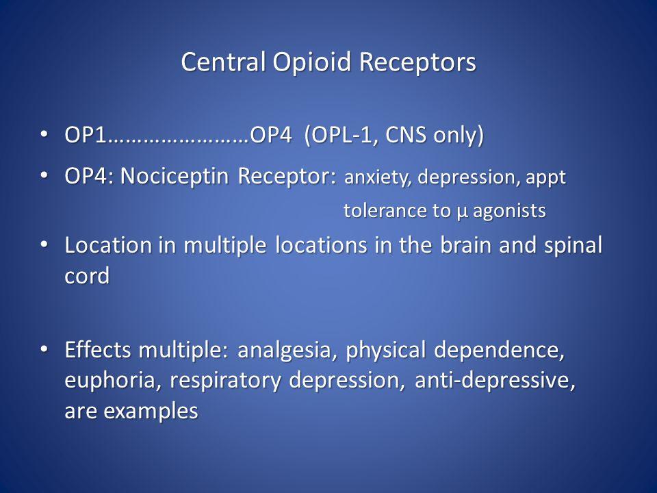 Central Opioid Receptors
