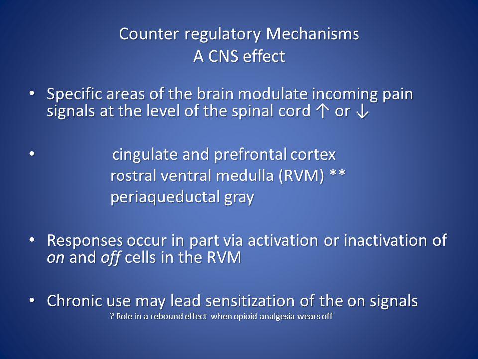 Counter regulatory Mechanisms A CNS effect