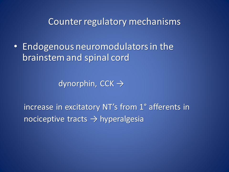 Counter regulatory mechanisms