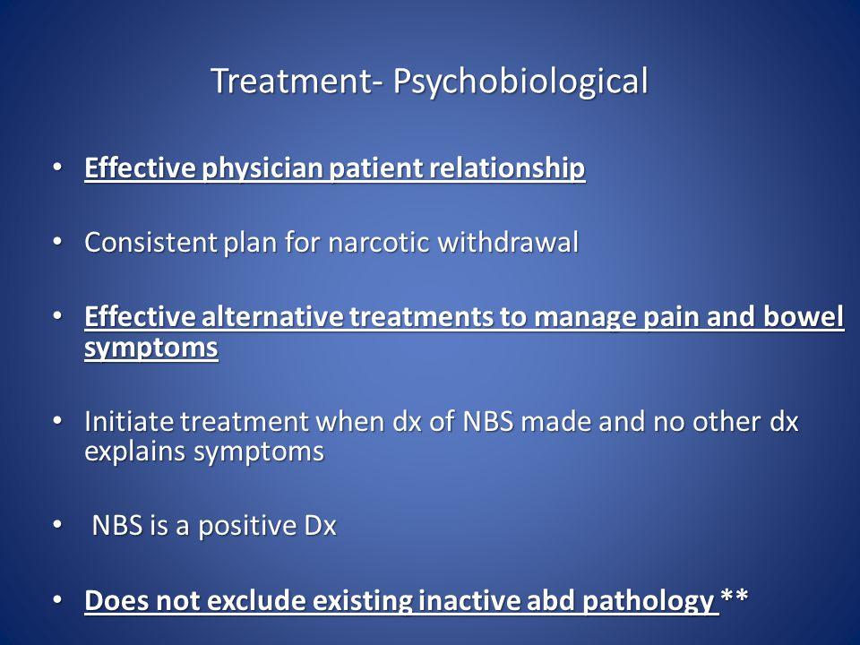 Treatment- Psychobiological