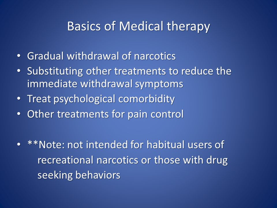 Basics of Medical therapy