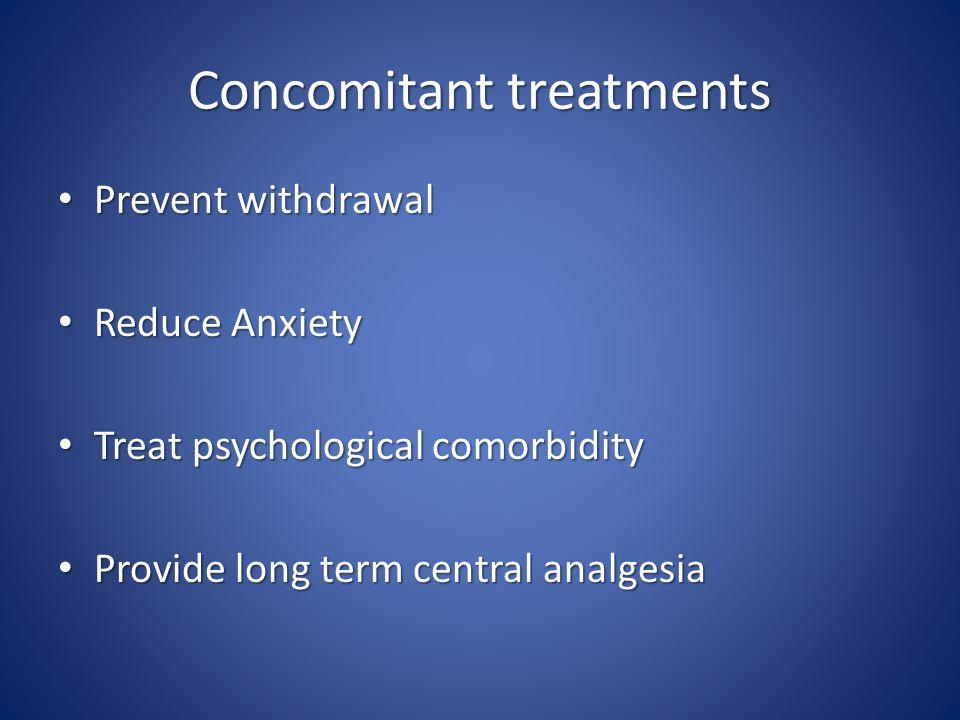 Concomitant treatments