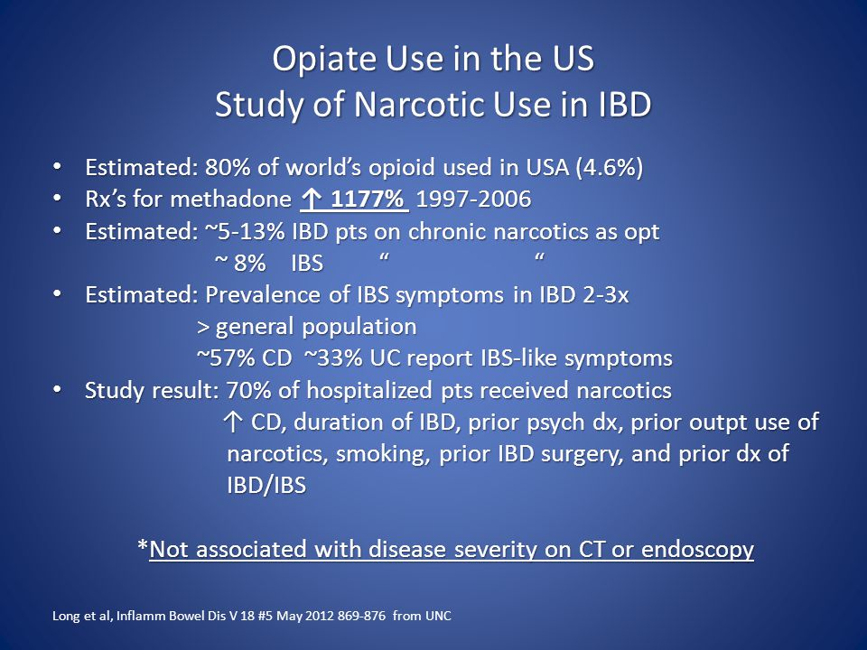 Opiate Use in the US Study of Narcotic Use in IBD