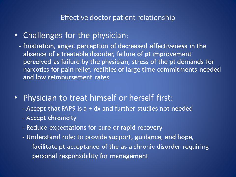Effective doctor patient relationship