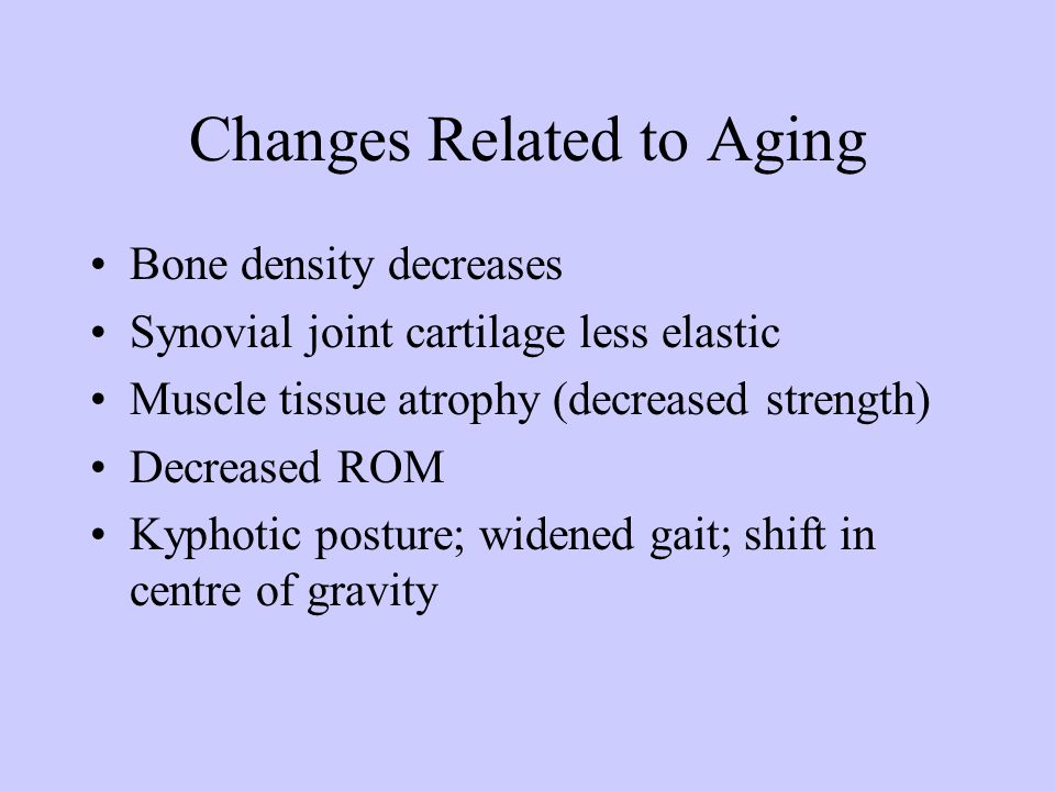 Changes Related to Aging