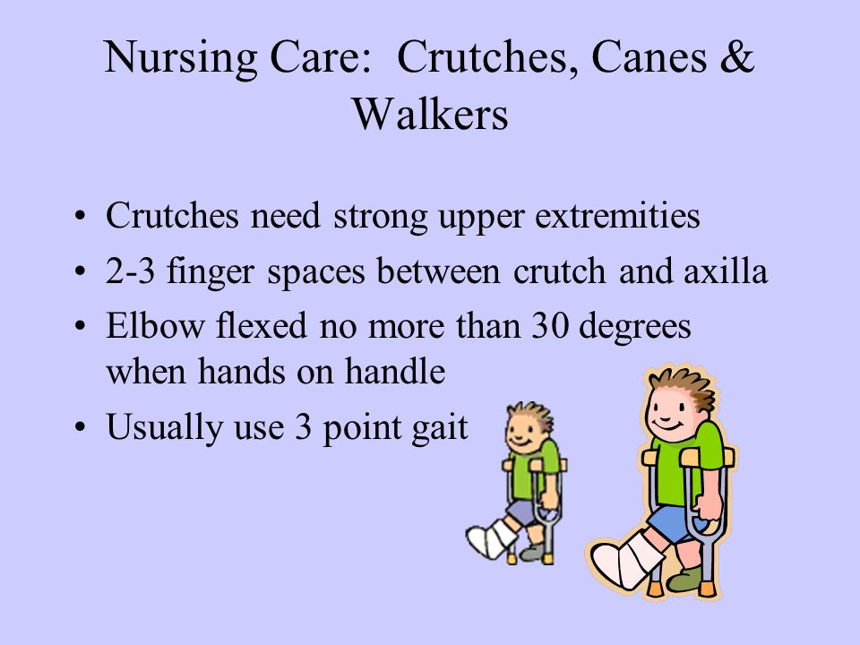 Nursing Care: Crutches, Canes & Walkers