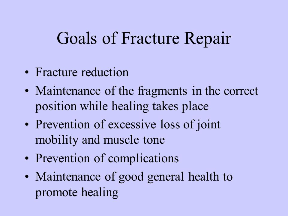 Goals of Fracture Repair