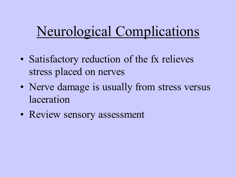 Neurological Complications